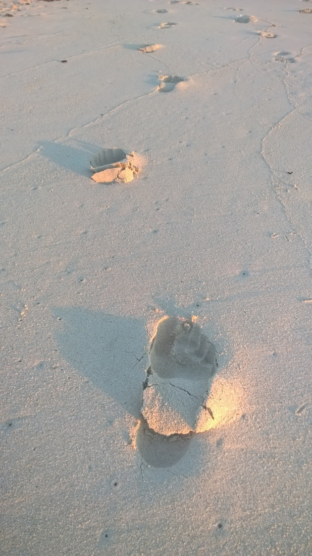Footprints of @NakedRunning